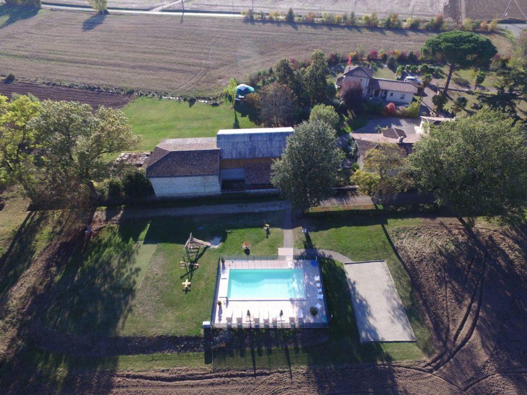 Vue aérienne du Domaine du Gite du Jardin d'en Naoua